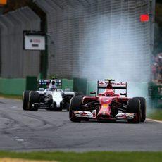 Pasada de frenada de Kimi Räikkönen en Albert Park