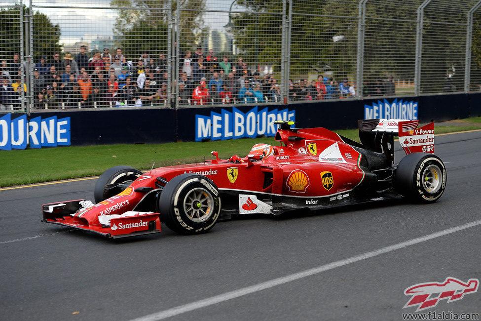 Kimi Räikkönen firma el octavo puesto en el GP de Australia
