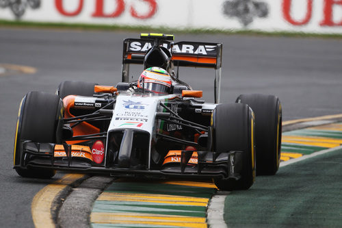 Sergio Pérez disputa el GP de Australia 2014