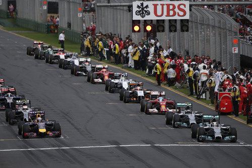 Parrilla de salida del GP de Australia 2014