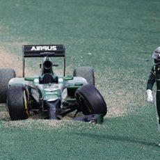 Kamui Kobayashi abandona el Gran Premio de Australia