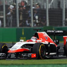 Jules Bianchi con el neumático blando durante la carrera en Melbourne