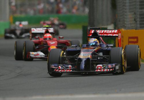 Jean-Eric Vergne plantando cara a Kimi Räikkönen