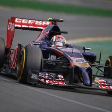 Daniil Kvyat con el neumático blando durante la carrera en Australia