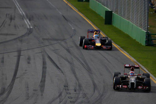 Romain Grosjean y Sebastian Vettel, ambos motorizados por Renault