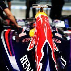 Parte trasera del RB10 de Vettel