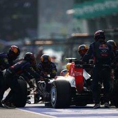 Problemas en boxes con Daniel Ricciardo