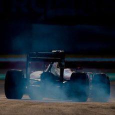 Pasada de frenada de Kimi Räikkönen en Malasia