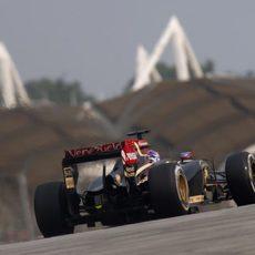 Romain Grosjean logra acabar en Malasia