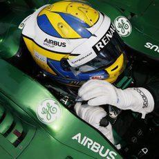 Marcus Ericsson listo para comenzar la carrera