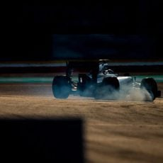 Bloqueo de neumáticos de Valtteri Bottas