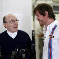 Rob Smedley junto a Frank Williams