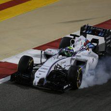 Neumáticos bloqueados para Felipe Massa