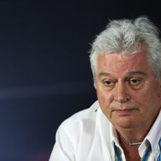 Pat Symonds, en la rueda de prensa de la FIA