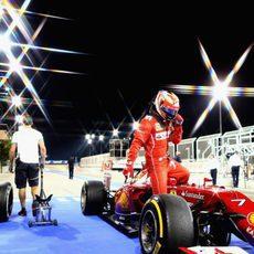 Kimi Räikkönen acaba la sesión del viernes