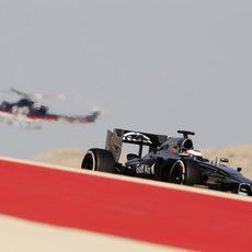 Jenson Button en la primera sesión de libres