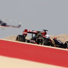 Romain Grosjean en la primera sesión de libres