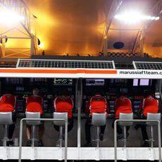 Pitwall del equipo Marussia