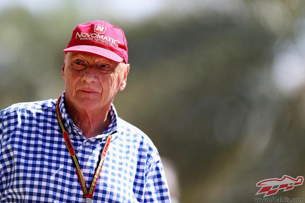 Niki Lauda, en el soleado circuito de Sakhir