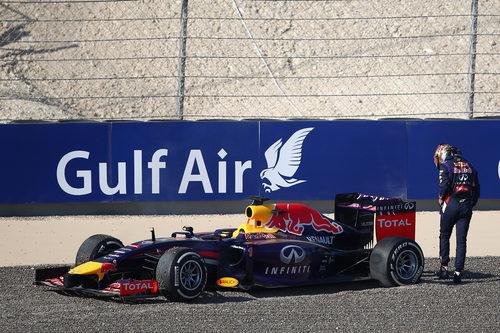 Salida de pista de Sebastian Vettel en los Libres 3