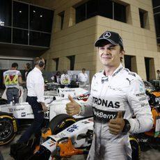 Alegría de Nico Rosberg en Sakhir tras lograr la pole
