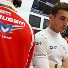 Jules Bianchi serio por su mal resultado