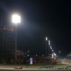 Jules Bianchi en la curva 1 de Baréin