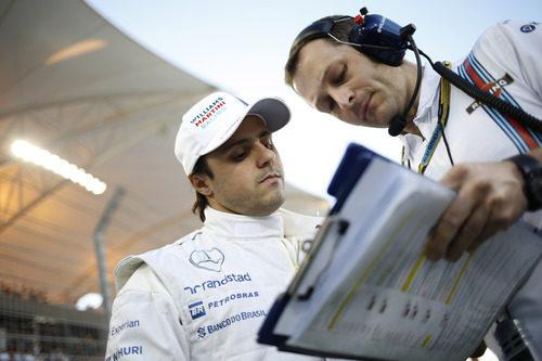 Detalles para Felipe Massa antes de la carrera