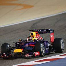 Sebastian Vettel se quedó sin DRS en algunos momentos