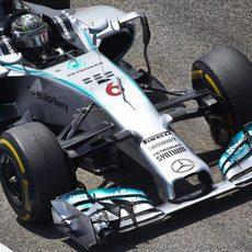 Nico Rosberg con neumáticos blandos