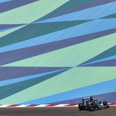 Nico Rosberg en el trazado de Sakhir