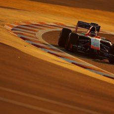 Max Chilton rueda en pista con el MR03