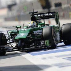 Marcus Ericsson estuvo en el segundo día de test