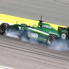 Marcus Ericsson se pasa de frenada en Sakhir