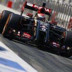 Sensor en el Lotus E22 de Pastor Maldonado