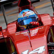 Fernando Alonso estuvo el segundo día de test también