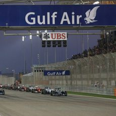 Salida del GP de Baréin 2014