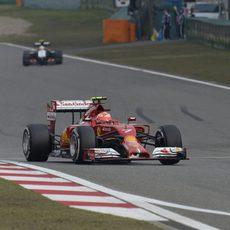 Kimi Räikkönen no tuvo ritmo en China