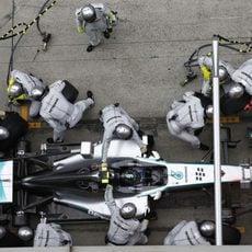 Juego de neumáticos medios para Nico Rosberg