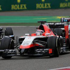 Jules Bianchi acabó satisfecho el GP de China