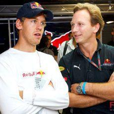 Vettel y Horner