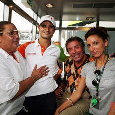 Liuzzi y su familia