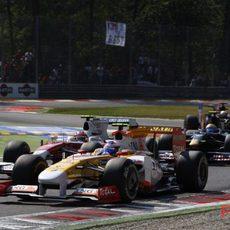 Grosjean en la pista