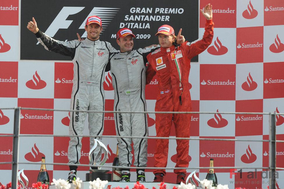 El podio de Monza