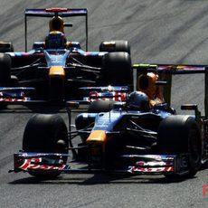 Vettel y Webber