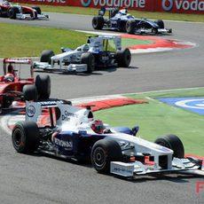Kubica delante de Fisichella