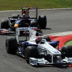 Kubica no logra acabar el GP de Italia