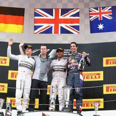 Podio del Gran Premio de España 2014