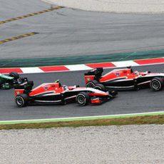 Jules Bianchi, por delante de Max Chilton y Marcus Ericsson