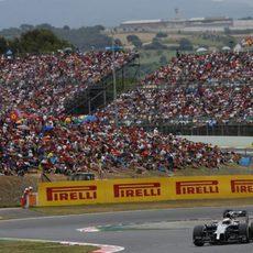 Jenson Button en el trazado de Montmeló